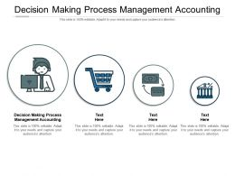 Decision Making Process Management Accounting Ppt Powerpoint Presentation Show Cpb