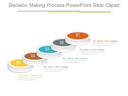 Decision Making Process Powerpoint Slide Clipart