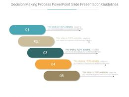 Decision Making Process Powerpoint Slide Presentation Guidelines