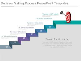 Decision Making Process Powerpoint Templates