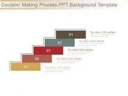 Decision Making Process Ppt Background Template