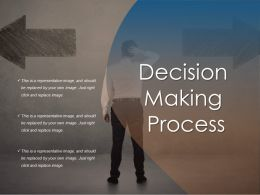 Decision Making Process Ppt Slide