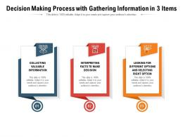 Decision Making Process With Gathering Information In 3 Items