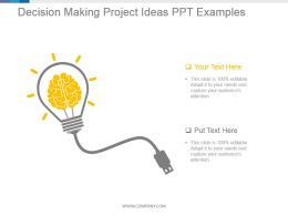 Decision Making Project Ideas Ppt Examples