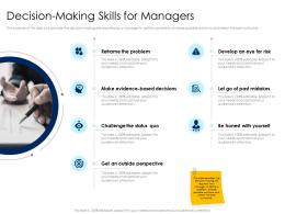 Decision Making Skills For Managers Leaders Vs Managers Ppt Powerpoint Presentation Ideas Infographics