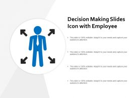 Decision Making Slides Icon With Employee