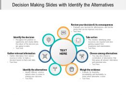 Decision Making Slides With Identify The Alternatives
