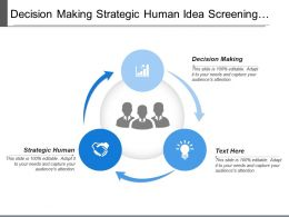 Decision Making Strategic Human Idea Screening Idea Generation