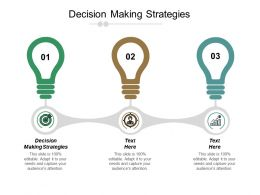 Decision Making Strategies Ppt Powerpoint Presentation File Background Cpb