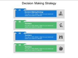 Decision Making Strategy Ppt Powerpoint Presentation Portfolio Tips Cpb