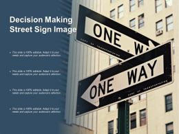 Decision Making Street Sign Image