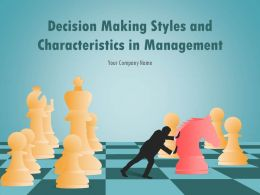 Decision Making Styles And Characteristics In Management PowerPoint Presentation Slides