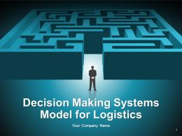 Decision Making Systems Model For Logistics PowerPoint Presentation With Slides