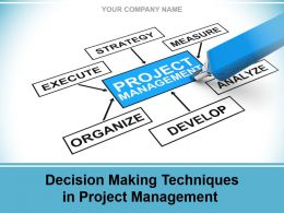 Decision Making Techniques In Project Management Powerpoint Presentation Slides