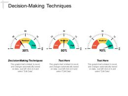 Decision Making Techniques Ppt Powerpoint Presentation Layouts Background Cpb