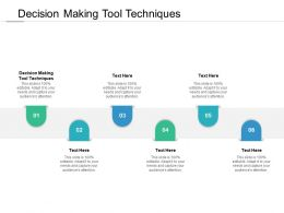 Decision Making Tool Techniques Ppt Powerpoint Presentation Inspiration Example File Cpb