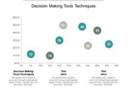 Decision Making Tools Techniques Ppt Powerpoint Presentation Portfolio Example Cpb