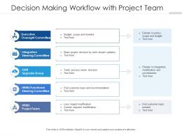Decision Making Workflow With Project Team