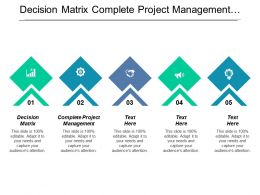 Decision Matrix Complete Project Management Project Time Schedule Template Cpb