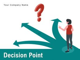 Decision Point Process Arrows Icon Information Physical Gear Business