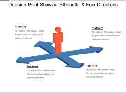 Decision Point Showing Silhouette And Four Directions