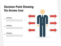 Decision Point Showing Six Arrows Icon