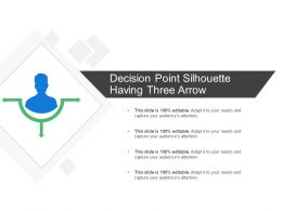 Decision Point Silhouette Having Three Arrow