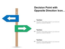 Decision Point With Opposite Direction Icon