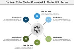 Decision Rules Circles Connected To Center With Arrows