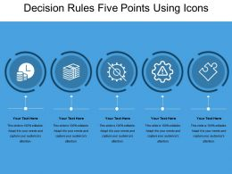 Decision Rules Five Points Using Icons