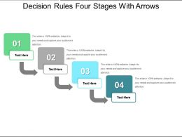 Decision Rules Four Stages With Arrows