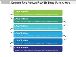 Decision Rules Process Flow Six Steps Using Arrows