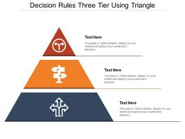 Decision Rules Three Tier Using Triangle