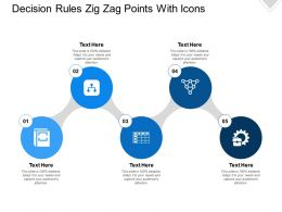 Decision Rules Zig Zag Points With Icons