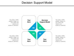 Decision Support Model Ppt Powerpoint Presentation Pictures Format Ideas Cpb