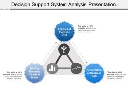 Decision Support System Analysis Presentation With Graph Arrows Image