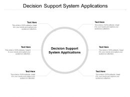 Decision Support System Applications Ppt Powerpoint Presentation Styles Example Topics Cpb