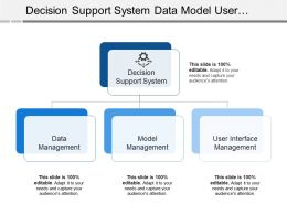 Decision Support System Data Model User Interface Management