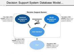 Decision Support System Database Model Management User Interface
