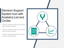 Decision Support System Icon With Analytics List And Circles