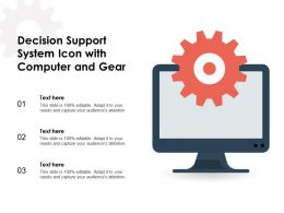 Decision Support System Icon With Computer And Gear