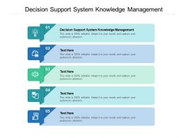 Decision Support System Knowledge Management Ppt Powerpoint Outline Cpb