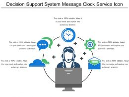 Decision Support System Message Clock Service Icon