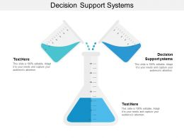 Decision Support Systems Ppt Powerpoint Presentation Professional Clipart Cpb