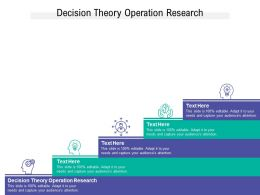 Decision Theory Operation Research Ppt Powerpoint Presentation File Styles Cpb