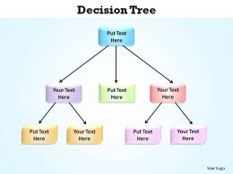 decision tree made of boxes hierarchy slides presentation diagrams templates powerpoint info graphics