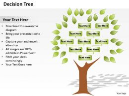 Decision Tree Powerpoint Template Slide