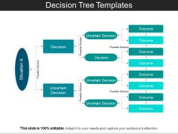 Decision Tree Templates PPT Sample Presentations