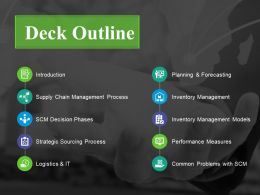 Deck Outline Powerpoint Ideas