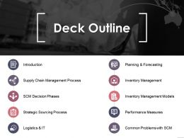 Deck Outline Sample Of Ppt Presentation